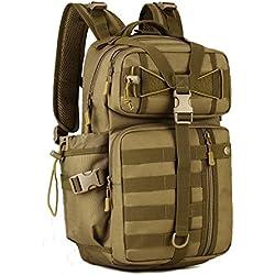 Huntvp Táctical Backpack Mochila de Asalto Mochila de Marcha Molle Militar Gran Bolsa de Hombro Impermeable 30L Para Las Actividades Aire Libre Senderismo Caza Viajar