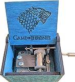 BADARENXS Reine Hand-klassischen Game of Thrones Musik-Box Hand-hölzerne Spieluhr kreative Holz Handwerk (Game of Thrones Magisches Blau)