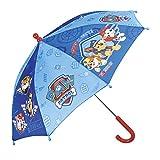 Kinder Schirm Paw Patrol für Jungen - Stockschirm mit Chase Rubble und Marshall - Robuster Regenschirm mit Zeichnungen - 66 cm Durchmesser - 3 bis 5 Jahre - Perletti