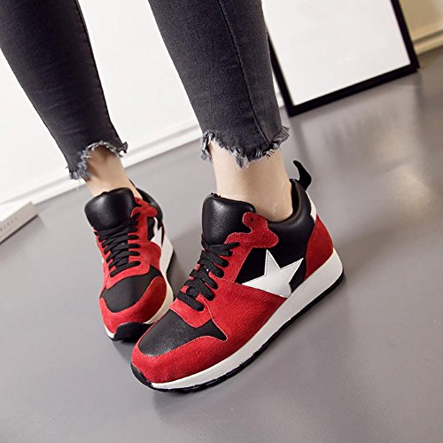 SONGYUNYANLes chaussures de femmes College vent occasionnel nubuck cuir haute couture Red