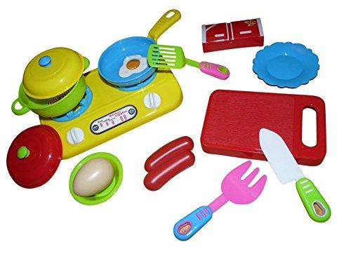 Spielzeug Küchen Zubehör, A133, 14 TLG. Set für die Puppenküche oder das Puppenhaus, Geschenk-Idee für Jungen und Mädchen für Weihnachten und zum Geburtstag, Geburtstags-Geschenk