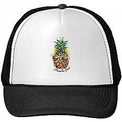 DIYthinker Nylon Gorra de béisbol de la Fruta de la piña Tropical Gafas de Sol Gorros Gorro Enfriar los niños del Casquillo del Sombrero Ajustable Regalo de los niños
