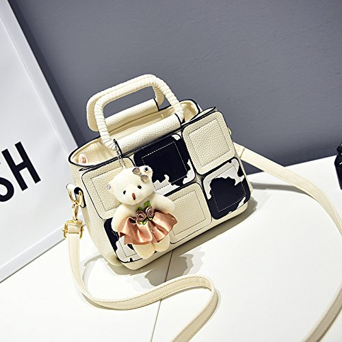 Hqyss Borse Da Donna Pu Leather Cuta Cartoon Milk Women Shoulder Shoulder Messenger Bianco