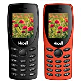 Hicell C1 Tiger (Combo Of Two MOBILES) Dual Sim Mobile Phone With Digital Camera And 1.8 Inch Screen (Black+Orange)