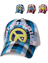 ManoaShark® Peace Trucker Mesh Baseball Cap Surfer Vintage Retro Style - in 3 verschiedenen Farben erhältlich!