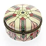 Old Tupton Ware - Rene Mac Tiffany Design - Hinged Round Trinket Box