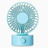 WitMoving New Noiseless USB Desktop Fan with Adjustable Head, Dual Fan Blades, 2 Speeds, Mini Size Desk Fan for Home Office Outdoor Travel