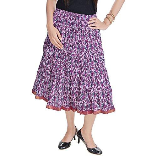 Prateek Retail Multicolour Designer Girls Cotton Full Skirt
