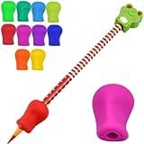 10 impugnature per matite, matite e penne, per bambini e adulti, supporto per correzione della postura, supporto per…
