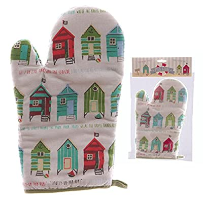 Fun Seaside Design Cotton Beach Hut Oven Glove
