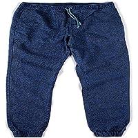 L.Bolt Printed Hemp Cotton Shaka Ensign Pantalones, Hombre, Azul, M