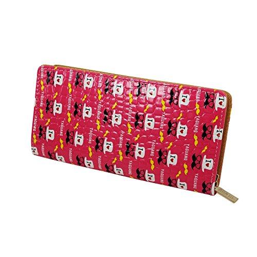 DaoJian donne motivo pietra carta di credito Portafoglio Portafoglio Frizione Borsa, Rose (rosa) -