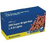 Brite Ideas Festive 200 Multiaction LED Lights - Red