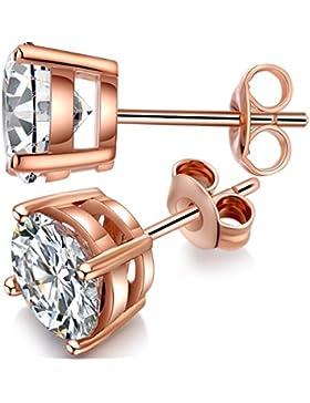 OhrringeRoseGold,heißer Verkauf Ohrringe Frauen Rold Gold Platte Silber Ohrstecker Beste Geschenk für Freunde