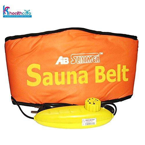 KS Healthcare Sauna Belt Ab Slimmer Belt Slimming Belt (Orange)  available at amazon for Rs.299