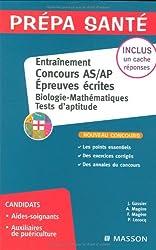 Entraînement Epreuve écrite Concours AS/AP Biologie Mathématiques, Tests d'aptitude