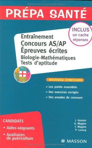 Entraînement Epreuve écrite Concours AS/AP Biolo...
