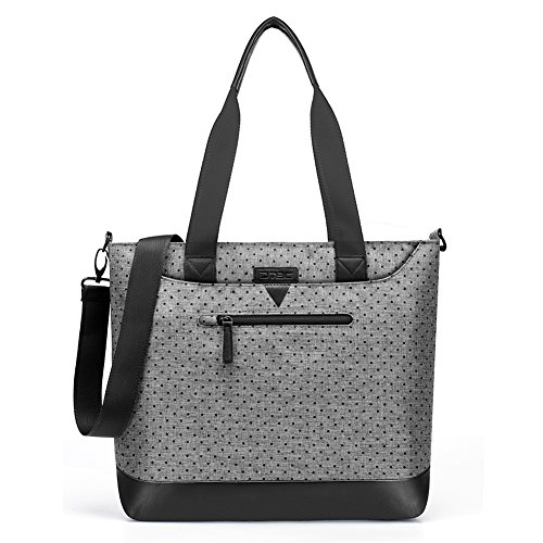 Women Laptop Bag 15.6 Inch,DTBG Black Dot Nylon Classic Work Travel Messenger Shoulder Bag Office Briefcase Casual Handbag Business Tote Bag for 13,14,15 Inch Laptop / Notebook / MacBook