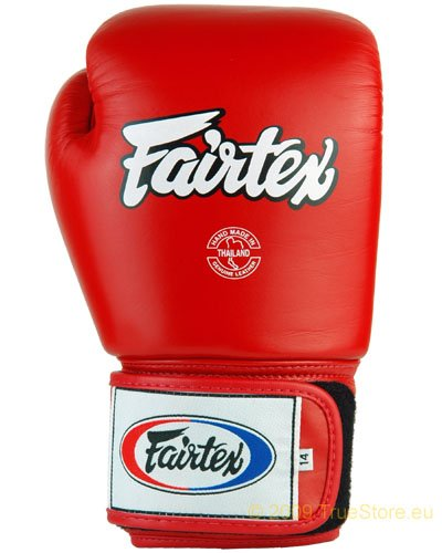 fairtex boxhandschuhe Fairtex Leder Boxhandschuh Tight Fit (BGV1) , rot, 12Unzen