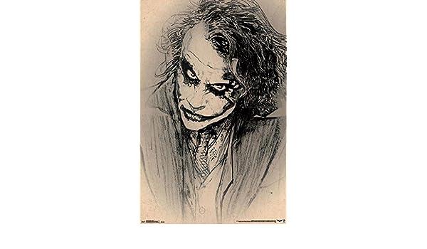 Heath Ledger RARE HOT NEW 22x34 BATMAN DARK KNIGHT JOKER POSTER Amazing Sketch