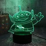 wangZJ 3d illusion lampe / 7 couleurs changeantes tactile veilleuse/lampe de...