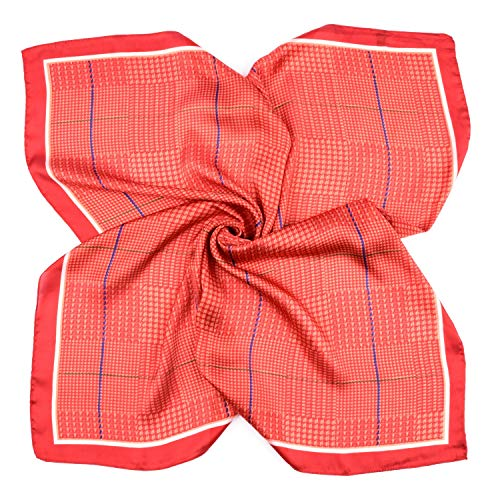 BeCann Sciarpa di seta quadrata forma di sciarpa di raso di seta per le donne 275 x 275