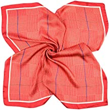 c0b17e00f10 BeCann Soie Comme Écharpe Carré Satin Cheveux Foulard Foulards Pour Femmes  27.5    x 27.5