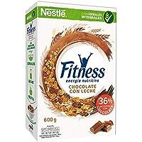 Cereales Nestlé Fitness con chocolate con leche - Copos de trigo integral, arroz y avena integral tostados - 16.