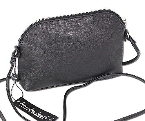 Damen Schultertasche Umhängetasche XS Handtasche langer Schulterriemen 3820 (Weiss) Weiß