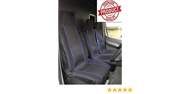 FORD TRANSIT 2016 DOUBLE DELUXE GREY PATCH VAN SEAT COVERS SINGLE