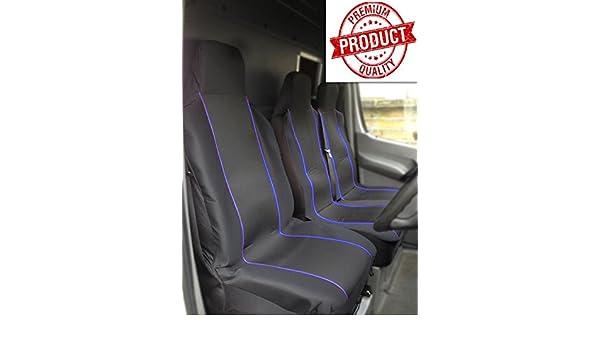 Black Blue Racing FIAT DUCATO 35 MAXI 3.0 EXTRA HIGH ROOF VAN XLWB Deluxe Luxury Foam Cloth Van Seat Covers