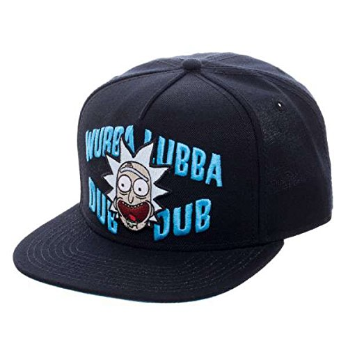 Baseball-Cap-Rick-And-Morty-Wubba-Black-Snapback-Hat-Licensed-sb4g9iric