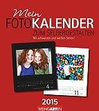 Fotokalender zum Selbergestalten 21,5 x 24 cm 2015: Mit schwarzen und weißen Seiten