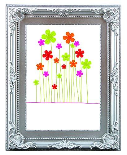 Henzo 8036415 Colourbarok 20x30 Frame Silber Bilderrahmen, Plastik, 20 x 30 x 2 cm