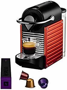 Krups YY1202FD Nespresso Pixie Machine à Espresso Rouge Electrique orangé (ancien modèle)