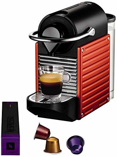 Nespresso Pixie Red YY1202 Krups - Cafetera monodosis (19 bares,...