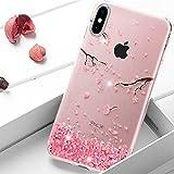 iPhone X Coque Rose,Uposao iPhone X Bling Bling Gliter Sparkle Paillette Coque Etui...