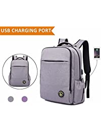 FLYMEI Large Baby Diaper Bag Backpack With Stroller Straps And USB Charging Port, Anti-theft Waterproof Nappy...