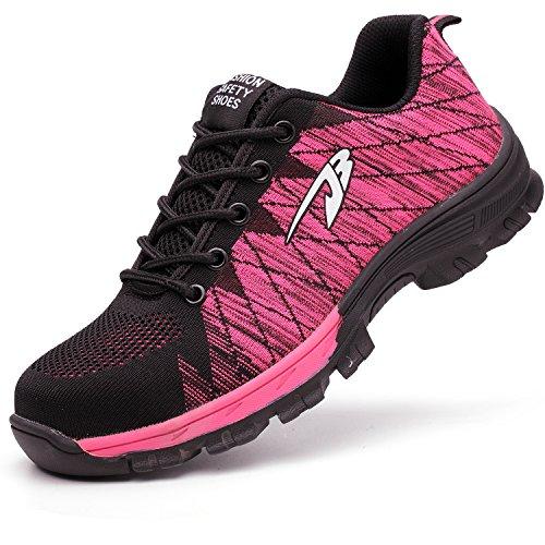 37005494a6c COOU Zapatillas de Seguridad para Hombre Ligeras S3 Calzado de Trabajo para  Comodas