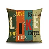 Sunlera 45x45cm Farbe Letters Druck Dekokissen Abdeckungen Pillowcase Bar Büro-Sofa Car Home Decor
