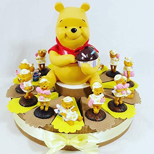 Bomboniere disney nascita battesimo maschio o femmina torta 14 fette winnie the pooh