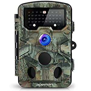 cámara gran angular: Apeman Cámara de Caza 12MP y 1080P HD Trail Cámara con Gran Angular de 120° y 42...