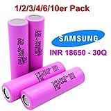 6x Samsung SDI INR18650-30Q - Akku - 3.7V - 3000mAh - 15A - Ideal für E-Zigarette Werkzeug E-Bike Notebook Modellbau
