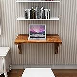 Weiß/Braun Massivholz Wandklapptisch, Garage Waschküche Schlafzimmer Küchenarbeitstisch Computertisch Esstisch Klapptisch, 10 Größen