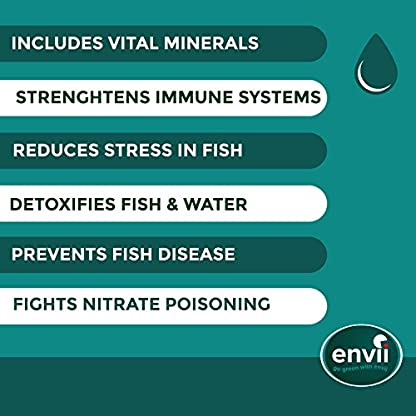 Envii Aquarium Water Tonic – Water Treatment Uses Vital Minerals To Reduce Fish Stress & Prevent Parasitic Disease and… 3