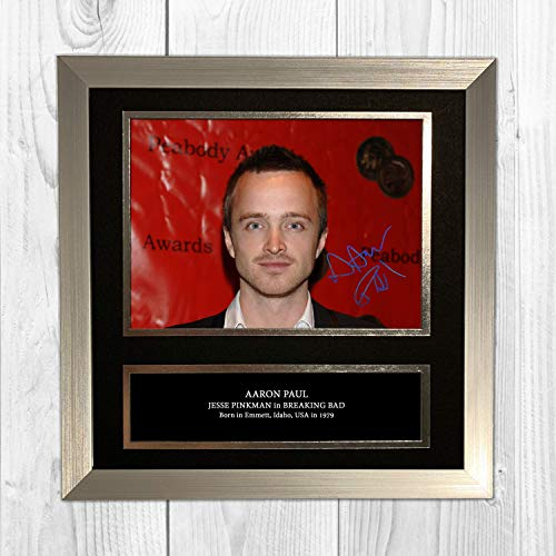 Aaron Paul - Jessie Pinkman - Breaking Bad 1 NDB Signed Reproduction Autographed Wall Art - 10 inch x 10 inch Print (Silver Frame)