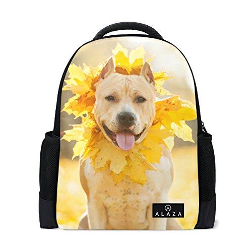 My Daily American Staffordshire Terrier Hund Kranz Rucksack 35,6cm Laptop Daypack Schultasche für Reisen College Schule