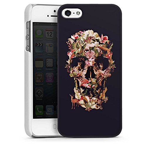 Apple iPhone 5s Housse Étui Protection Coque Crâne Tête de mort Crâne CasDur blanc