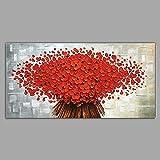 WJ-HOME Öl Malerei von Hand bemalt - Landschaft Blumen/Botanischer Klassische Moderne Leinwand gehören Innerer Rahmen, 90 cm * 45 cm