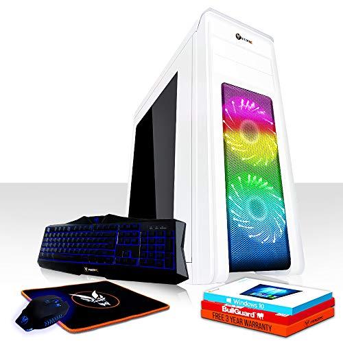 Fierce Apache RGB Gaming PC Bundeln - Schnell 4.2GHz Quad-Core Intel Core i7 7700, 1TB Festplatte, 8GB 2400MHz, AMD Radeon RX 550 4GB, Windows 10 installiert, Tastatur Maus (VK/QWERTY) 462545